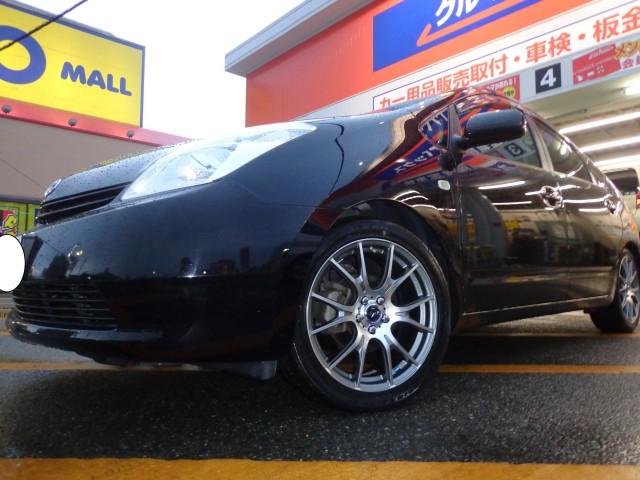 20系プリウス タイヤ・ホイール取付!(^^)! ジークスZE914 レオニスNAVIA02